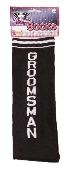 Bachelor Party Groomsman Crew Socks White Black Costume Accessory Wedding Day
