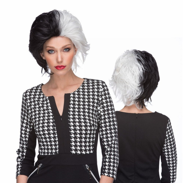 Quality Westbay Black White Wicked Character Wig Cosplay Adult Costume Accessory