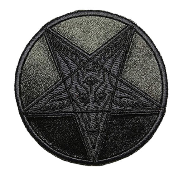 Kreepsville 666 Pentagram Satanic Symbol Faux Leather Patch Iron Sew On Applique