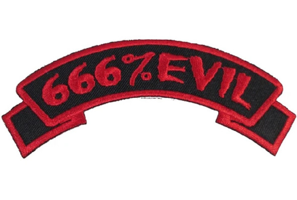Kreepsville 666 Scare Wear Red 666% Evil Embroidered Arch Patch Iron Or Sew On