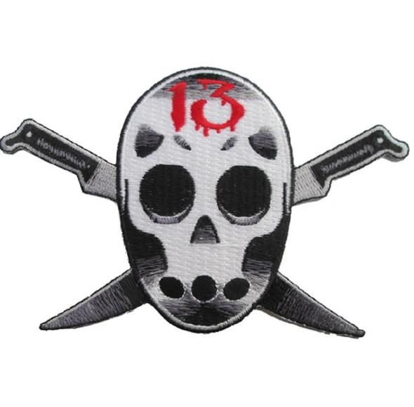 Kreepsville 666 Raider 13 Embroidered Patch Hockey Mask Killer Iron Or Sew On