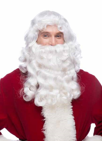 Westbay Santa Claus Wig N' Beard Christmas Set Old Mens Septia Costume Acce RX