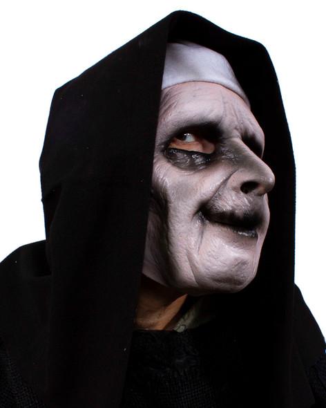 Zagone Studios UV Ghostly Habit Evil Nun Mask Glows Under Black Light Evil Look