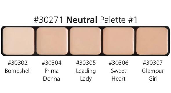 Graftobian High Definition HD Glamour Cream Foundation Neutral Palette #1 30271