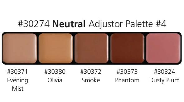 Graftobian High Definition HD Glamour Cream Foundation Neutral Palette #4 30274