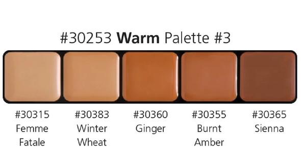 Graftobian High Definition HD Glamour Cream Foundation Warm Palette #3 30253