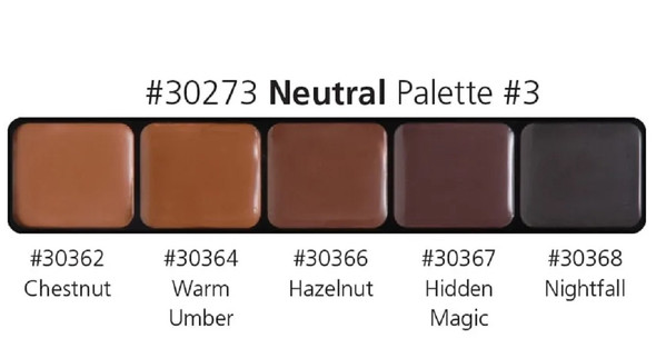 Graftobian High Definition HD Glamour Cream Foundation Neutral Palette #3 30273