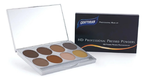 Graftobian Professional Make-Up Ultra HD Brow Pressed Powder Palette 8 Colors