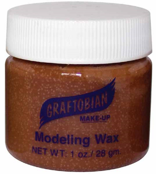 Graftobian Theatrical Modeling Wax Brown Color Pro Make-Up Special Effect 1oz