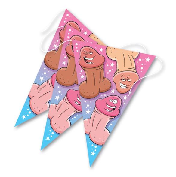 Ozze Women's Bachelorette Pecker Banner Adult Party Supply Penis Decoration