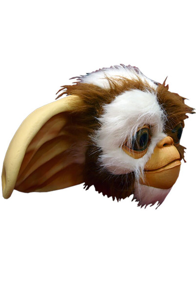 The Gremlins Deluxe Gizmo Adult Latex Mask Mogwai Cute Fur 80s Costume Accessory
