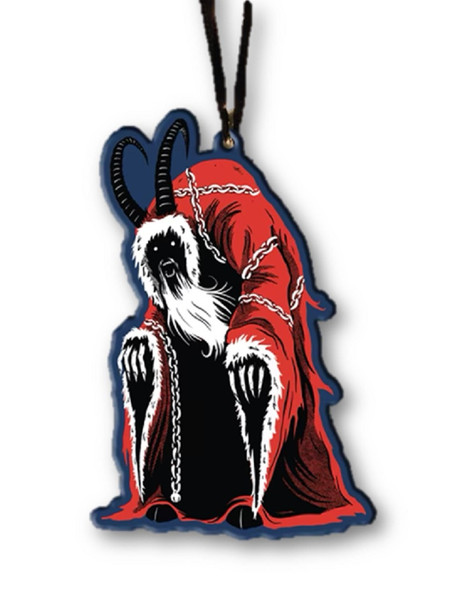 Trick or Treat Holiday Horrors Krampus Metal Christmas Tree Ornament