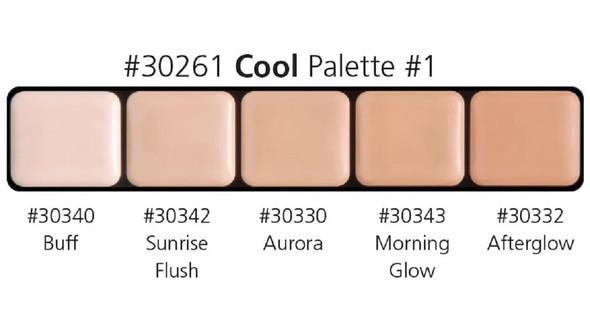 Graftobian High Definition HD Glamour Cream Foundation Cool Palette #1 30261