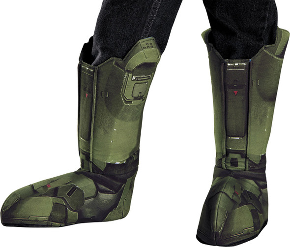 Master Chief Halo Boot Covers Adult Mens Green Shoe Tops Costume Accessory