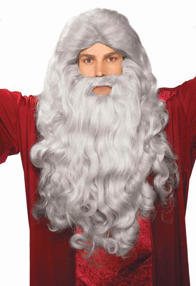 Moses Grey Wig Beard Hair Old Man Wizard Costume Accessory Prop Men Bible