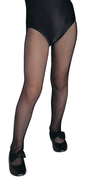 Girl's Black Fishnet Tights Child Stockings Hosiery Costume Accessory Large