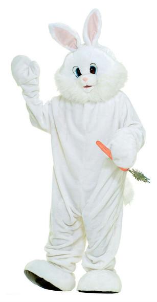 Bunny Adult Costume Mascot White Easter Rabbit Plush Fun Fur Standard-XXL