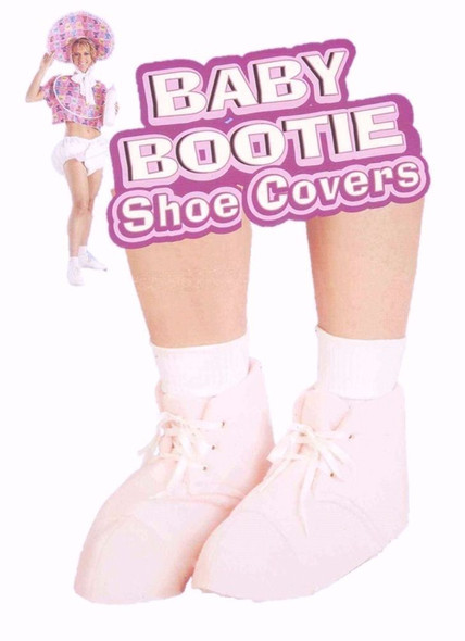 Baby Booties Pink Boot Shoe Covers Adult Costume Accessory Shower Prop Sissy New