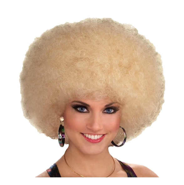 Afro Wig Blonde Retro Disco Halloween Costume Accessory Prop 70's 80's Curly New