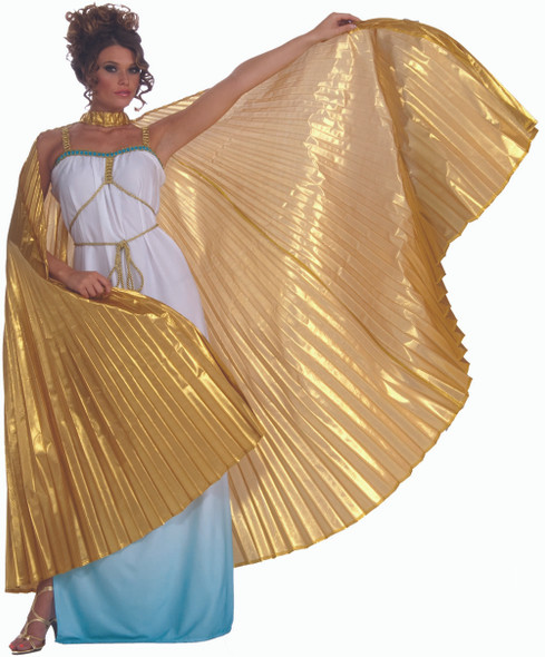 Gold Theatrical Cape Wings Adult Costume Accessory Cleopatra Egyptian Goddess
