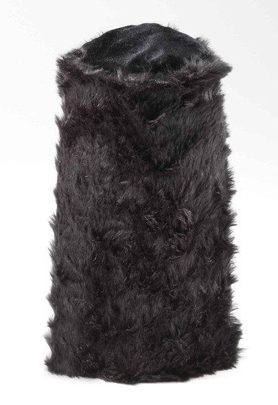 Black English Guard  Hat Long Faux Fur Royal Tin Soldier Adult Costume Accessory