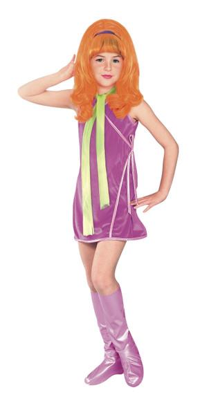 Scooby-Doo Classic Cartoon Daphne Child Costume Licensed Cosplay Girls SM-LG