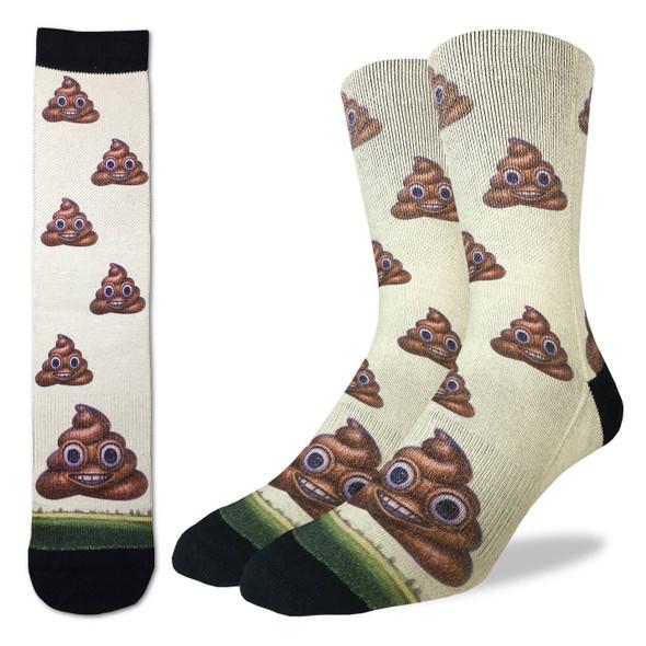 Good Luck Sock Piles Of Poop Crew Socks Adult Men's Shoe Size 8-13