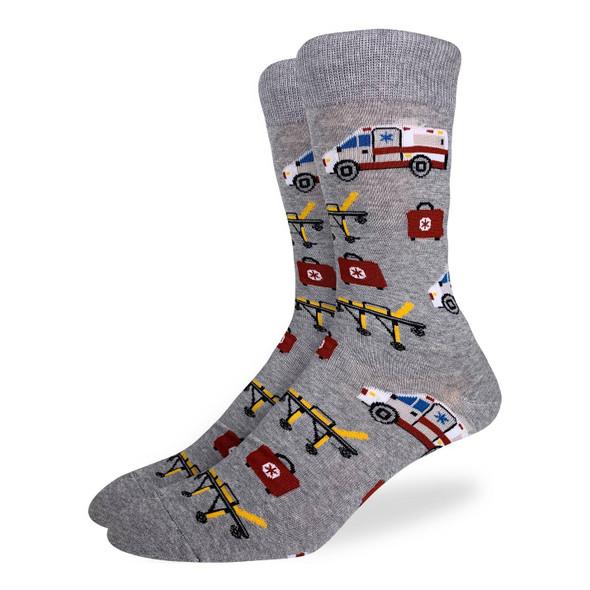 Good Luck Sock Paramedic King Size Crew Socks Adult Men's Shoe Size 13-17