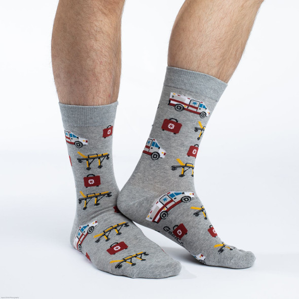 Good Luck Sock Paramedic Crew Socks Adult Shoe Size 7-12 First Responder