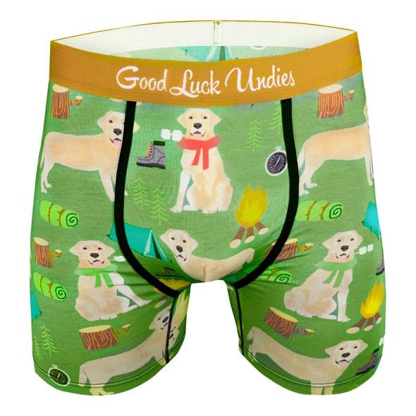Good Luck Undies Labrador Dog Mens Boxer Brief Underwear No Chafe Anti Roll XL