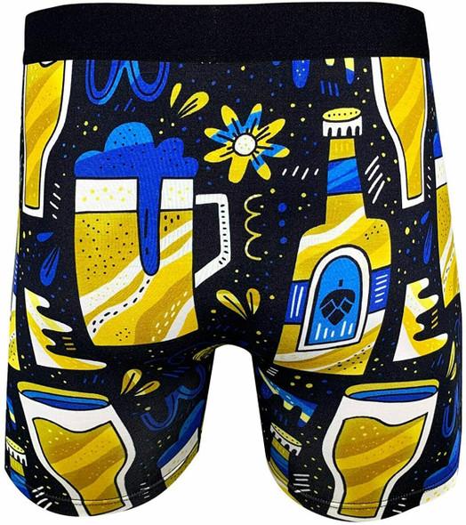 Good Luck Undies Beer Brew Men Boxer Brief Underwear No Chafe Anti Roll Band SM