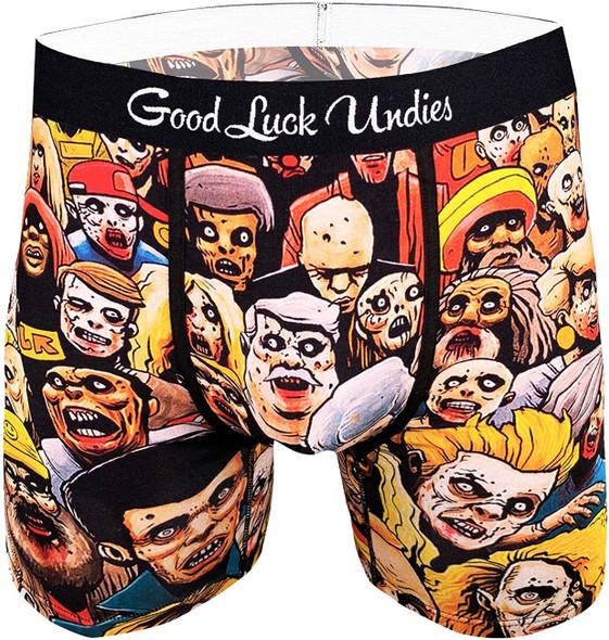 Good Luck Undies Zombies Boxer Brief Underwear No Chafe Anti Roll Waistband LG