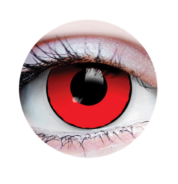 Primal Costume Contact Lenses Costume Blood Eyes Cosplay Make-up Anime