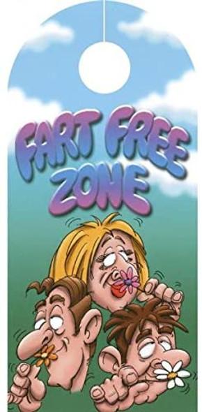 Ozze Caution Fart Zone & Fart Free Zone Door Hanger Joke Novelty Gag Gift