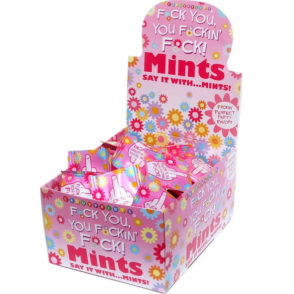 Candyprints F*ck You F*cking F*ck Mints Perfect Adult Party Favour 100pc Display