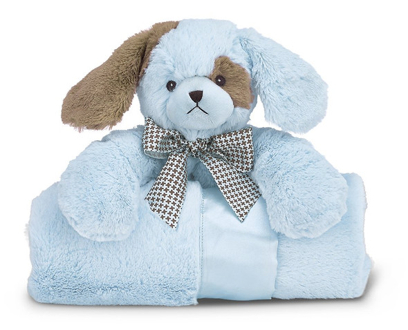 The Bearington Baby Collection Cuddle Me Waggles Puppy Dog Stroller Blanket