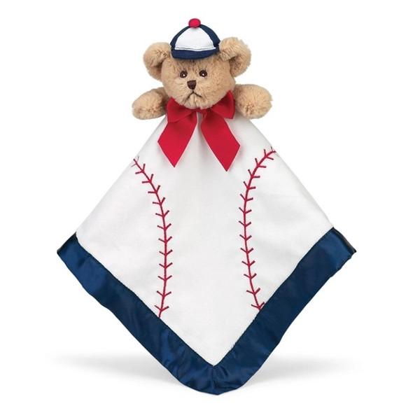 The Bearington Baby Collection Lil' Slugger Baseball Snuggler Blanket Puppy