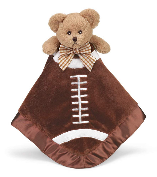 The Bearington Baby Collection Touchdown Football Snuggler Blanket Plush Puppy