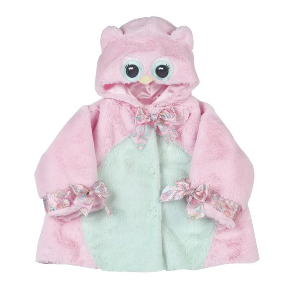 The Bearington Baby Collection Lil' Hoots Pink Owl Chamois Coat 6-12 Months Baby