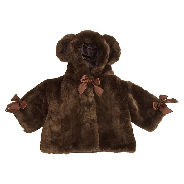 The Bearington Baby Collection Brown Mink Couture Coat Faux Fur 6-12 Months Baby