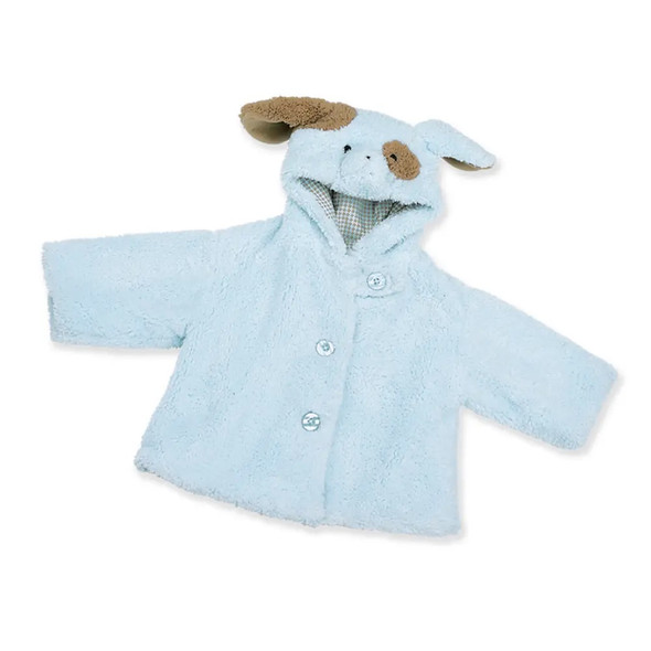 The Bearington Collection Waggles Puppy Dog Plush Blue Coat 6-12 Months Baby