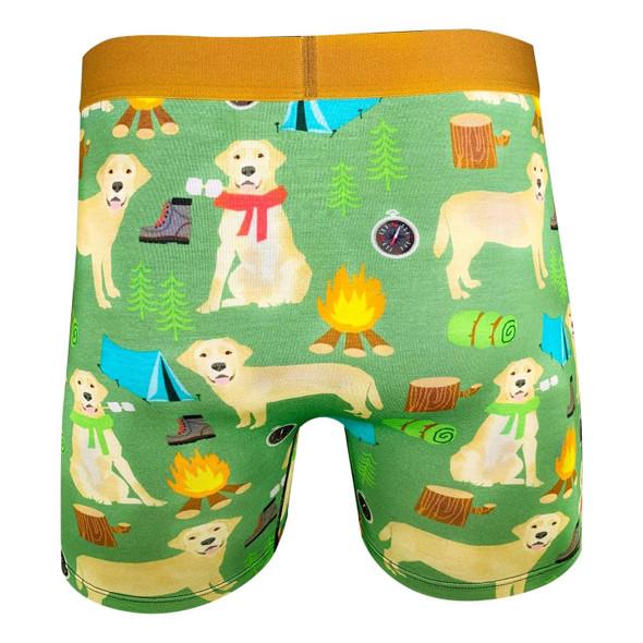Good Luck Undies Labrador Dog Mens Boxer Brief Underwear No Chafe Anti Roll LG