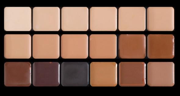 Graftobian High Definition HD Cream Foundation Super Palette Neutral 18 Colors