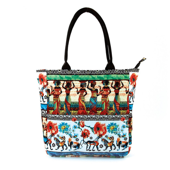 Out of Africa Vibrant Tote Bag Handbag Purse