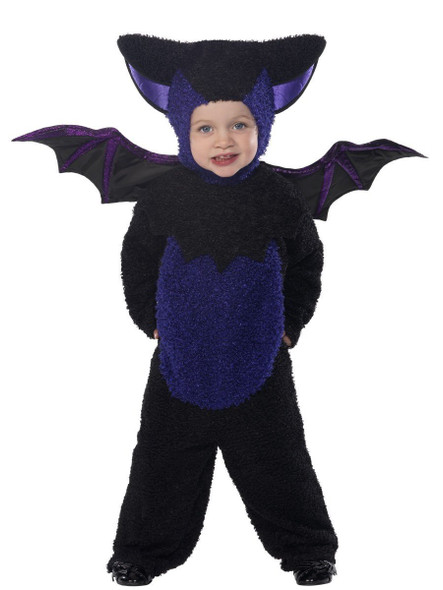 Smiffys Mini Monsters Bat Costume All In One Hood & Wings Toddler Size 1-2