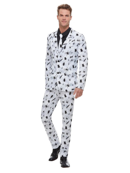 Smiffys Stand Out Bugging Out Suit Black White Bugs Adult Men's Costume MEDIUM