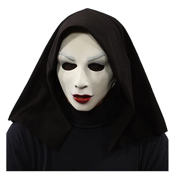 Zagone Studios UV Satan's Sister Evil Nun Latex Mask Glows Under Black Light
