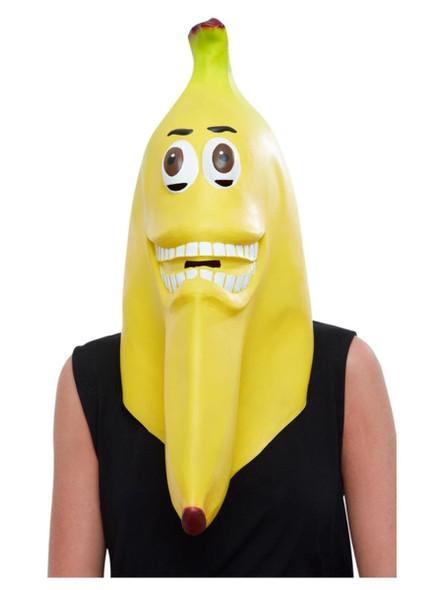 Smiffys Yellow Banana Full Overhead Latex Mask Halloween Costume Accessory