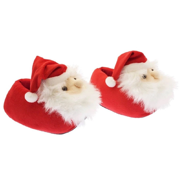 Streamline Imagined Cozy Snuggly Santa Claus Holiday Slippers Adult One Size