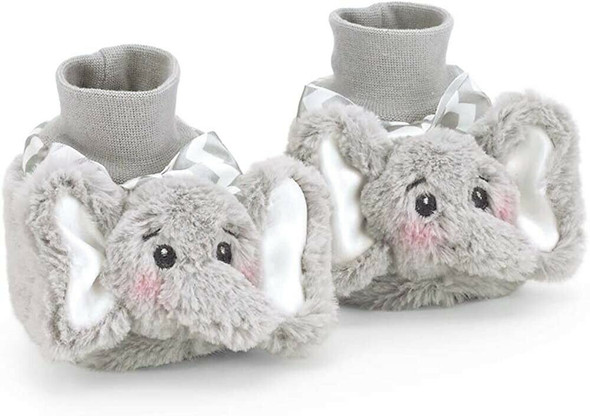 The Bearington Baby Collection Lil' Spout Elephant Booties Slippers 6-12 Months